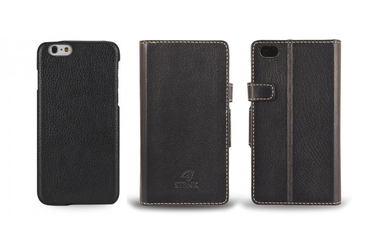 Кожаный чехол для телефона (накладка и чехол-кошелёк)