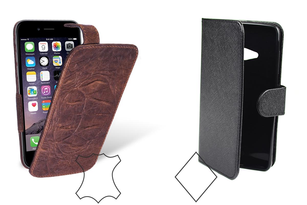 Какой чехол для телефона выбрать: кожаный или из кожзама?