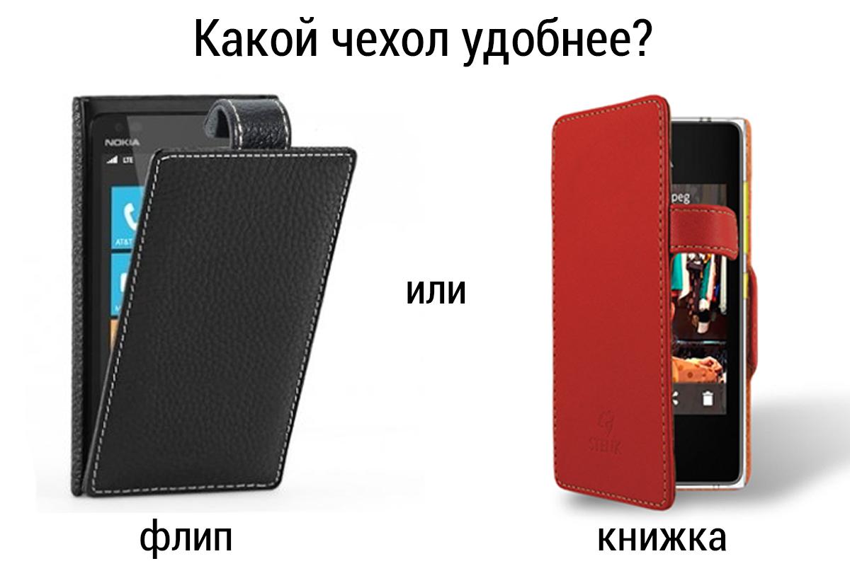 Какой чехол удобнее: флип или книжка?