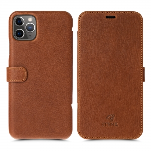 Чехол книжка Stenk Premium для Apple iPhone 11 Pro Max Camel Texas