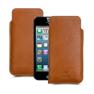 Футляр Stenk Elegance для Apple iPhone 5/ 5S Camel