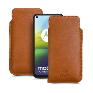 Футляр Stenk Elegance для Motorola G9 Power Camel