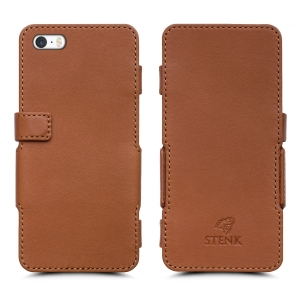 Чехол книжка Stenk Prime для Apple iPhone 5/ 5S Camel