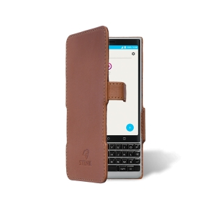 Чехол книжка Stenk Prime для BlackBerry KEY2 Camel
