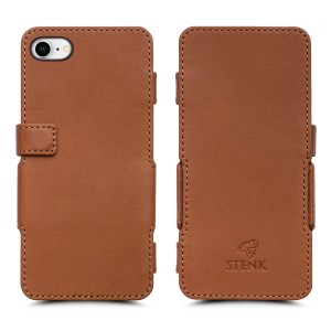 Чехол книжка Stenk Prime для Apple iPhone 8 Camel