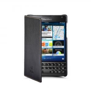 Чехол книжка Stenk Premium для BlackBerry Passport Чёрный