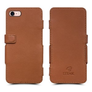 Чехол книжка Stenk Prime для Apple iPhone 7 Camel