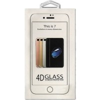 Защитное cтекло Buff для Apple iPhone 7, 4D, 0.3mm, 9H, White