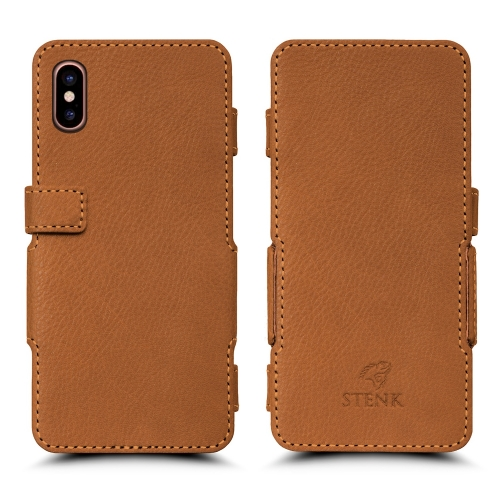 Чехол книжка Stenk Prime для Apple iPhone Xs Max Camel