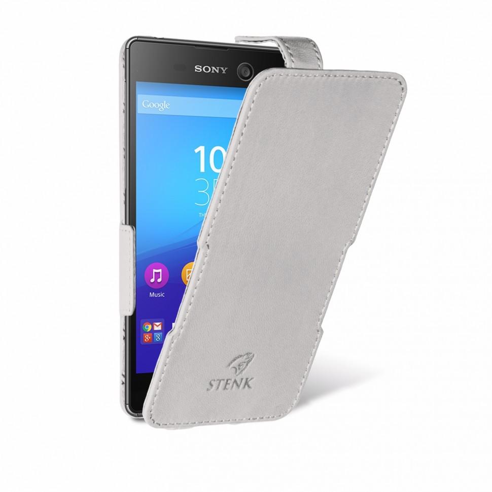 Чехол флип Stenk Prime для Sony Xperia M5 Белый
