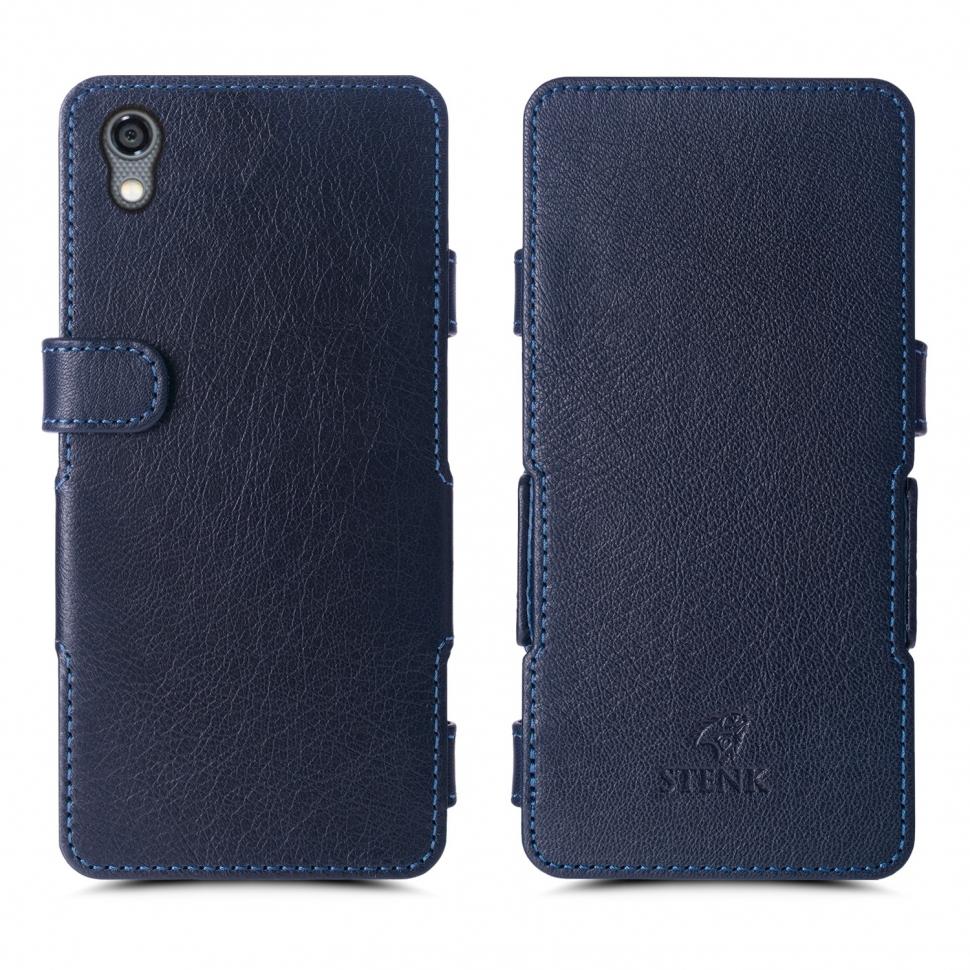 Чехол книжка Stenk Prime для Blackberry DTEK50 Синий
