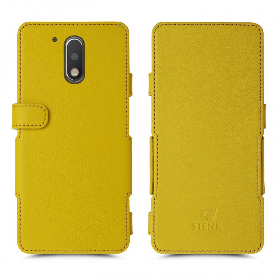 Чехол книжка Stenk Prime для Motorola Moto G4 (4th Gen) Желтый