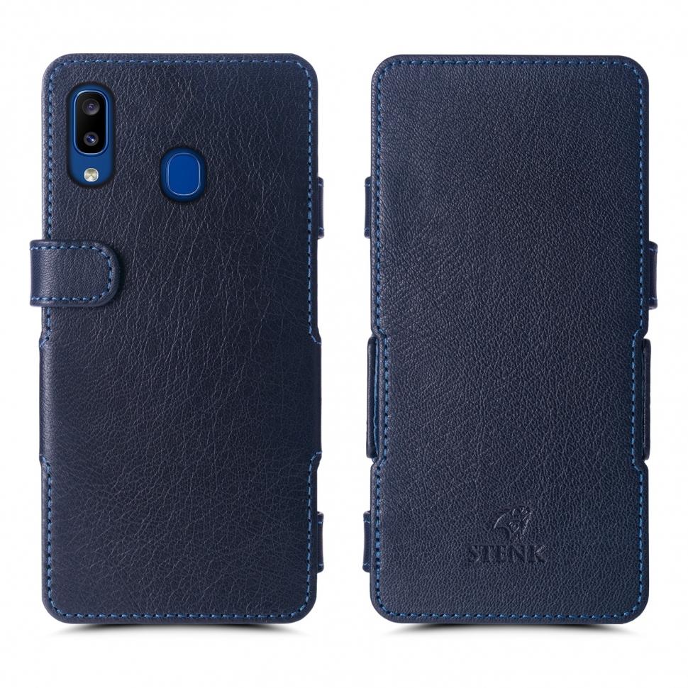 Чехол книжка Stenk Prime для Samsung Galaxy A20 Синий