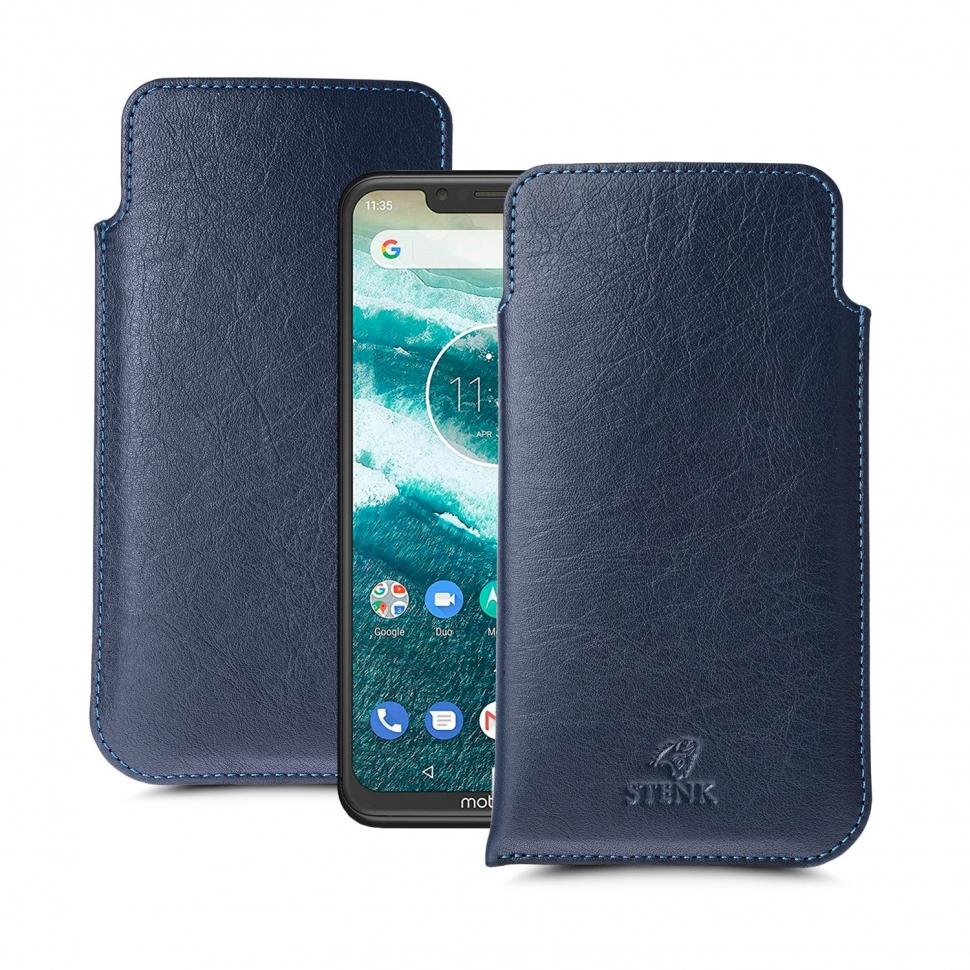 Футляр Stenk Elegance для Motorola One (XT1941-4) Синий
